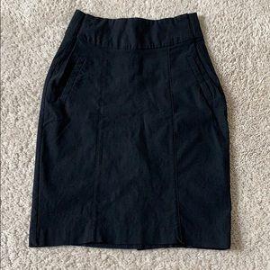 Black Business Professional Pencil Skirt